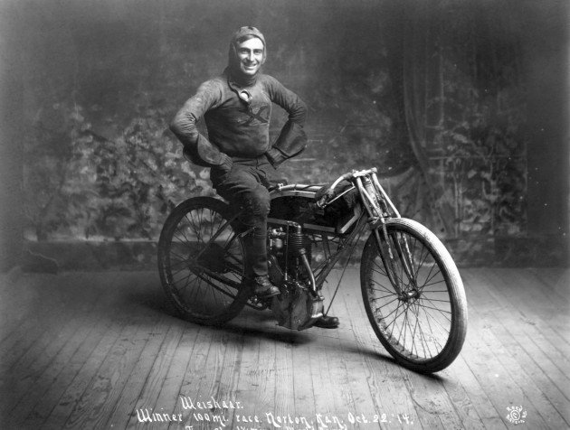 Early Motorcycle Racer Ray 'Kansas Cyclone' Weishaar