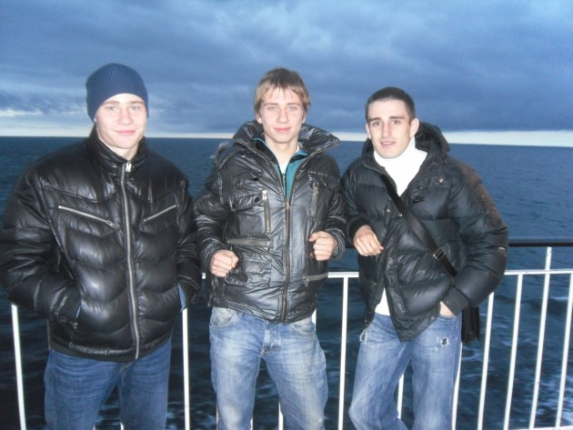 Latvija boxing team in Tampere