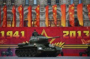 Military Parade Moscow. Russia World War II Historical Parade