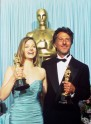Jodie Foster and Dustin Hoffman, 1989