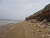 Hunstanton cliffs (Cretaceous period), UK