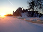 castle ruins - winter