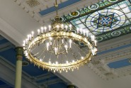 Riga synagogue-interior and chandelier