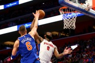 Basketbols; NBA; Knicks pret Pistons; 2017 - 5