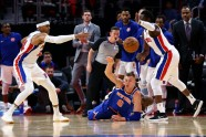 Basketbols; NBA; Knicks pret Pistons; 2017 - 6