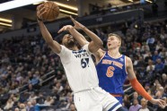 Basketbols: Knicks vs Timberwolves - 1