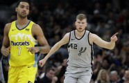 Basketbols; NBA; Spurs pret Nuggets; 2018 - 2